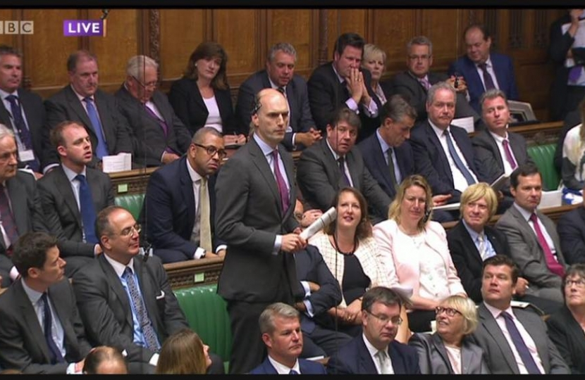 Asking my first question at Prime Minister's Questions