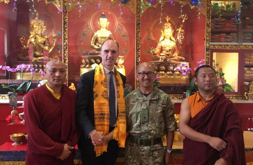 Delighted to visit Aldershot's Buddhist temple with Major Khim