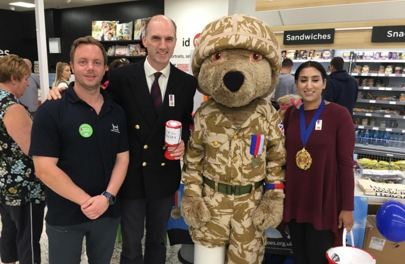 Help for Heroes fundraising at Asda In Farnborough