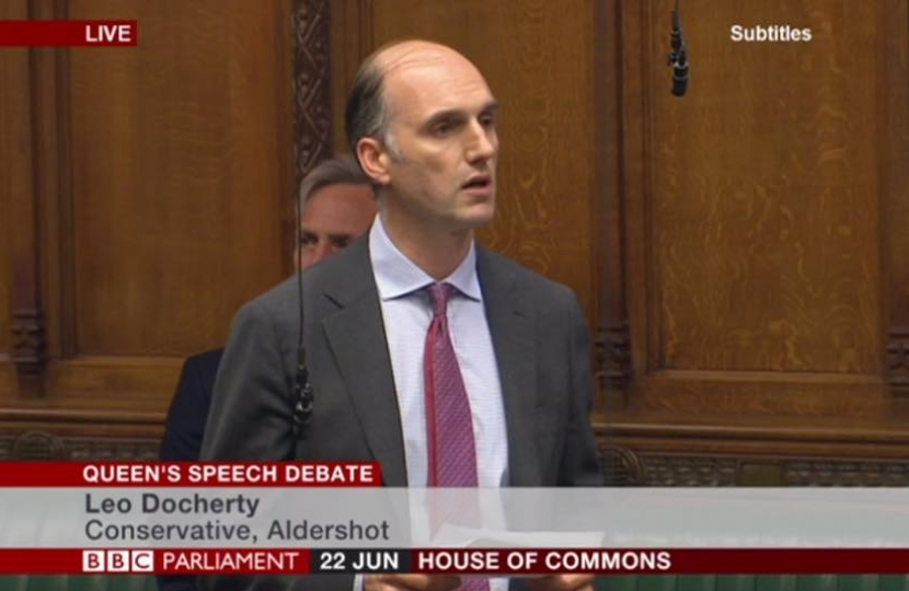 Making my maiden speech - about my constituency; the home of the British Army and the birthplace of British Aviation