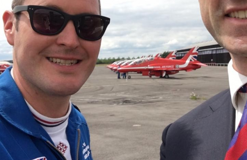 Pleased to see the Red Arrows parked up in Farnborough