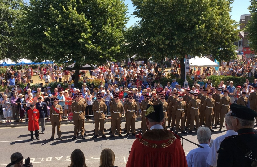 Armed Forces Day Parade In Aldershot Leo Docherty Mp