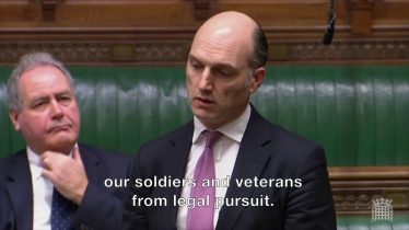 Embedded thumbnail for We must act now to protect our soldiers from legal pursuit, says Leo Docherty MP